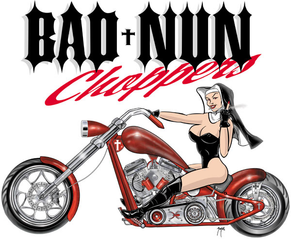 BAD NUN CHOPPERS LOGO